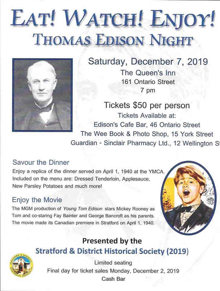 thomas edison night poster
