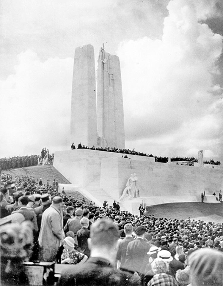 Inuaguration of the Vimy Memorial, 1936 https://www.context.ca/blog/2017/05/10/different-by-design-volume-2/