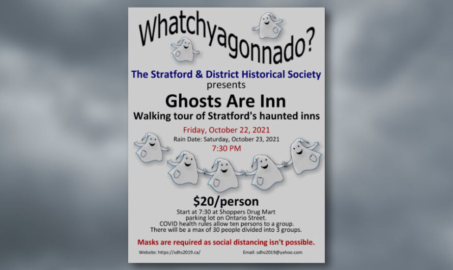 The Ghosts Are Inn – Walking Tour – THIS EVENT IS NOW SOLD OUT