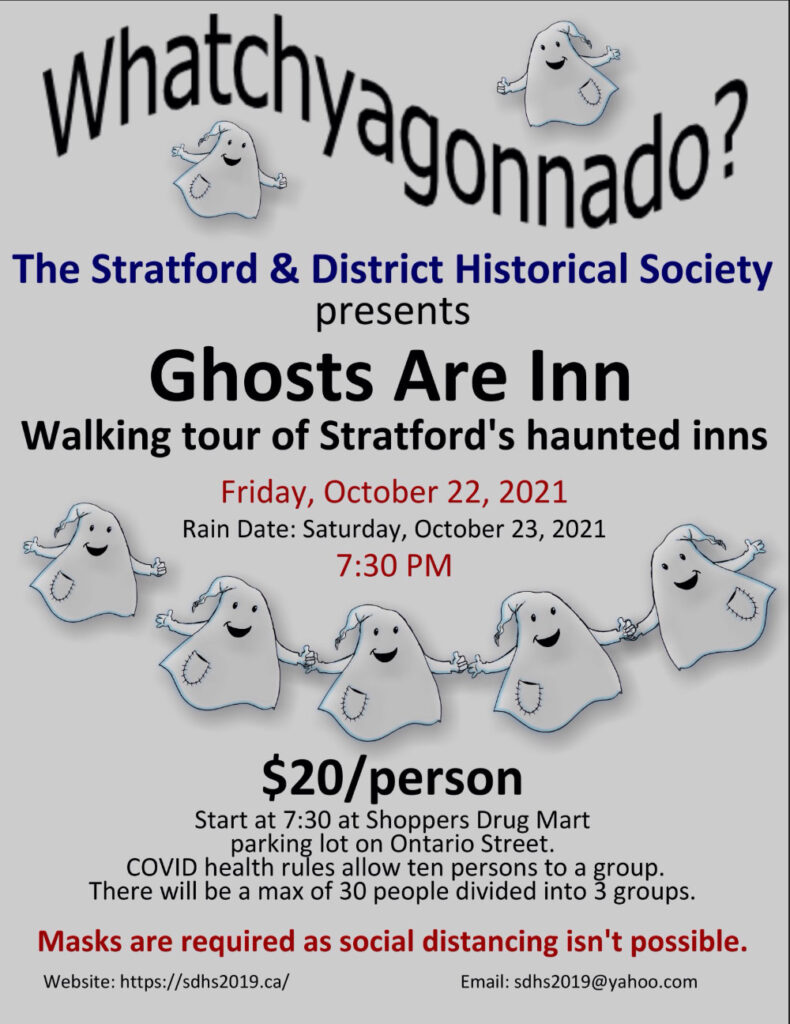 Ghosts are Inn walking tour poster